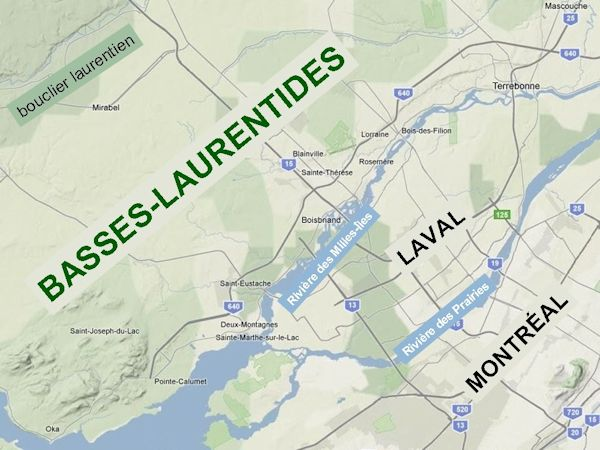 map of Basses-Laurentides, Quebec