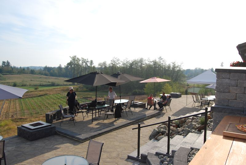 patio at Blackwood Lane Estate Winery