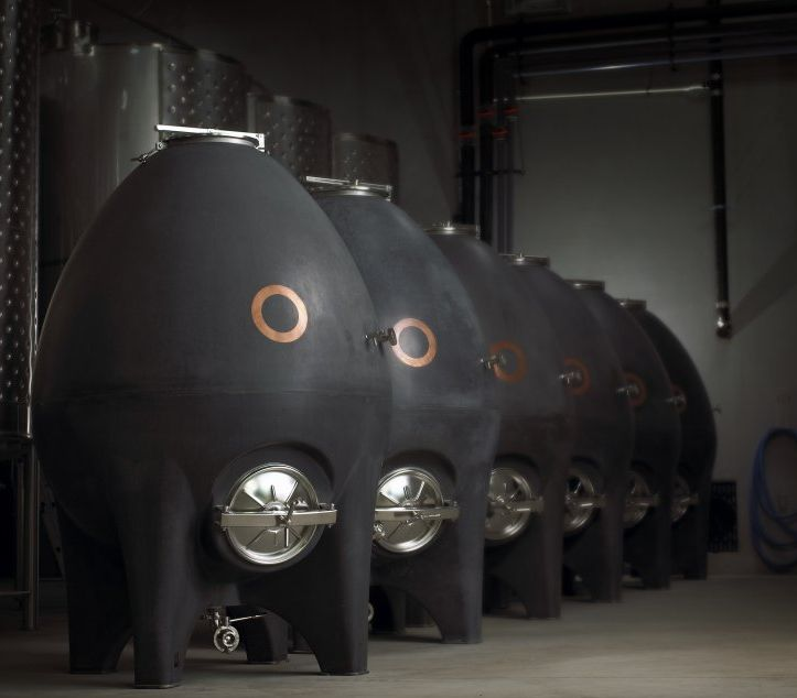 egg-shaped concrete fermenters