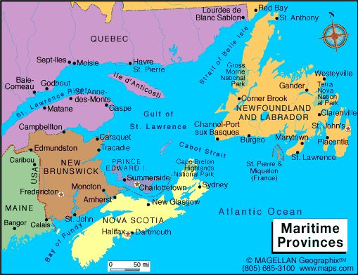 Map Of The Maritimes Map Of The Maritimes | compressportnederland Map Of The Maritimes