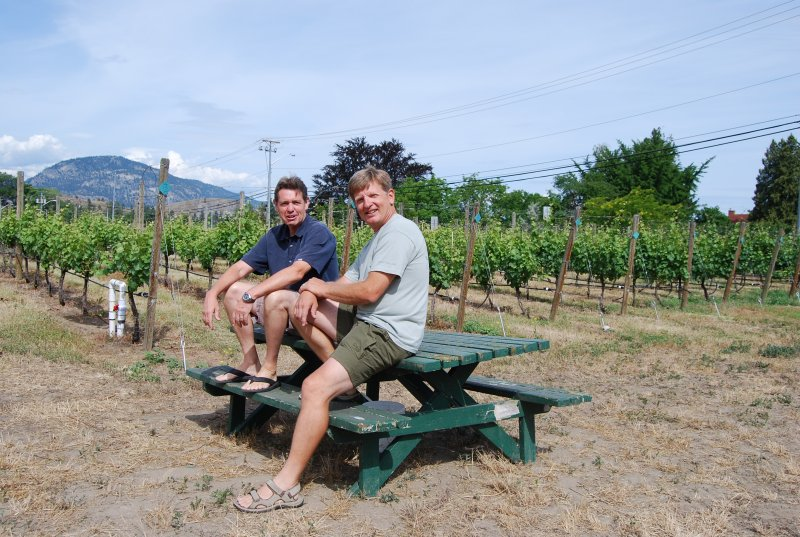 Township7 owner Mike Raffan and winemaker Bradley Cooper